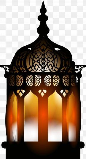 Black Retro Street Lamp - Quran Islam Ramadan PNG