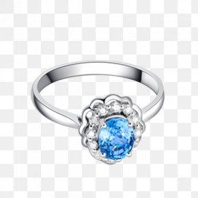 Ba Fana Sapphire And Diamond Ring - Sapphire Wedding Ring Blue Platinum PNG