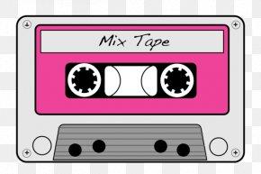 1980s Compact Cassette Mixtape Clip Art PNG