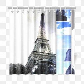 Eiffel Tower - Eiffel Tower Window Curtain PNG
