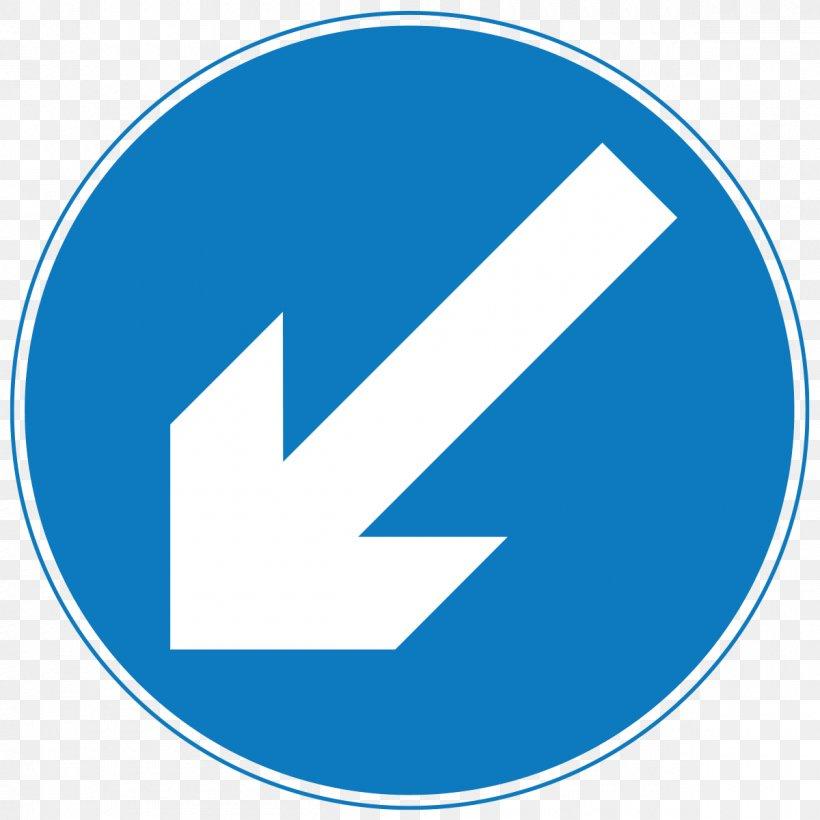 Traffic Sign Arrow Bollard Clip Art, PNG, 1200x1200px, Traffic Sign, Area, Blue, Bollard, Brand Download Free