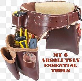 Belt - Carpenter Leather Tool Belt Bag PNG