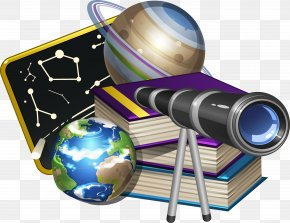 Books And Binoculars - Euclidean Vector Astronomy Icon PNG
