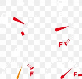Creative Car Fuel Gauge - Line Point Angle Red Pattern PNG