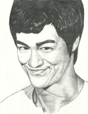 Bruce Lee - Smiley Drawing Facial Expression Face PNG