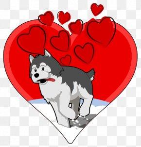 Valentines Celebration - Siberian Husky Alaskan Husky Puppy Clip Art PNG