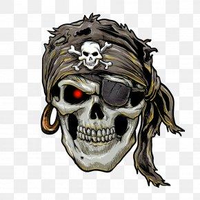 Horror Skull - Piracy Human Skull Symbolism Jolly Roger PNG
