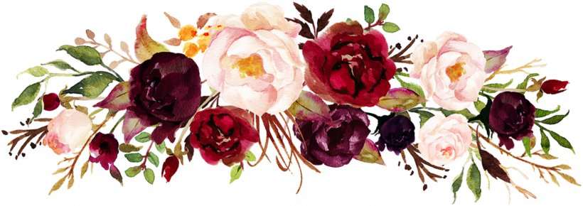 Marsala Wine Wedding Invitation Flower Clip Art, PNG ...
