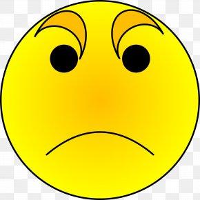 Sad Emoji - Smiley Anger Emoticon Clip Art PNG