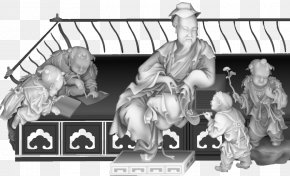 Private School Carvings - Grayscale Black And White Download Google Images PNG