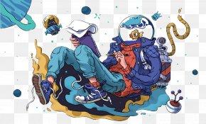 Cartoon Astronaut - Cartoon Astronaut Comics Illustration PNG