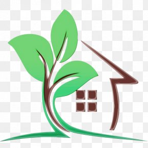 Symbol Plant - Green Leaf Watercolor PNG