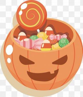 Halloween Pumpkin Vector - Halloween Pumpkin Candy PNG