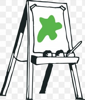 Painting - Easel Painting Artist Clip Art PNG