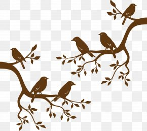 Bird Branch - Bird Branch Tree Euclidean Vector PNG