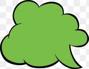 Green Cloud Bubbles - Green Clip Art PNG