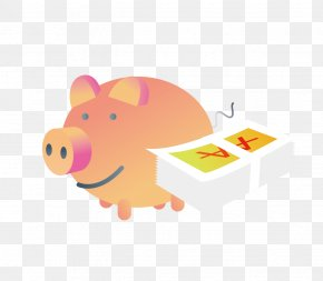 Piggy Bank And Cash - Kids Educational Game Free Domestic Pig Piggy Bank Finance Cash PNG