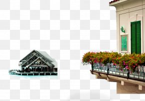 Balcony House Free Pull Material - Amalfi Photography Location PNG