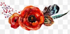 Watercolor Flowers - Poppy Flowers Flower Bouquet PNG