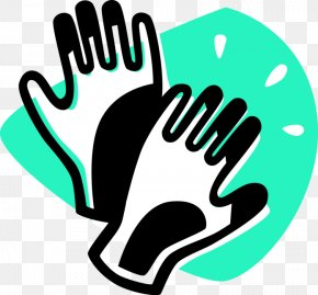 Gloves Clipart - Clip Art Green Headgear Logo Finger PNG