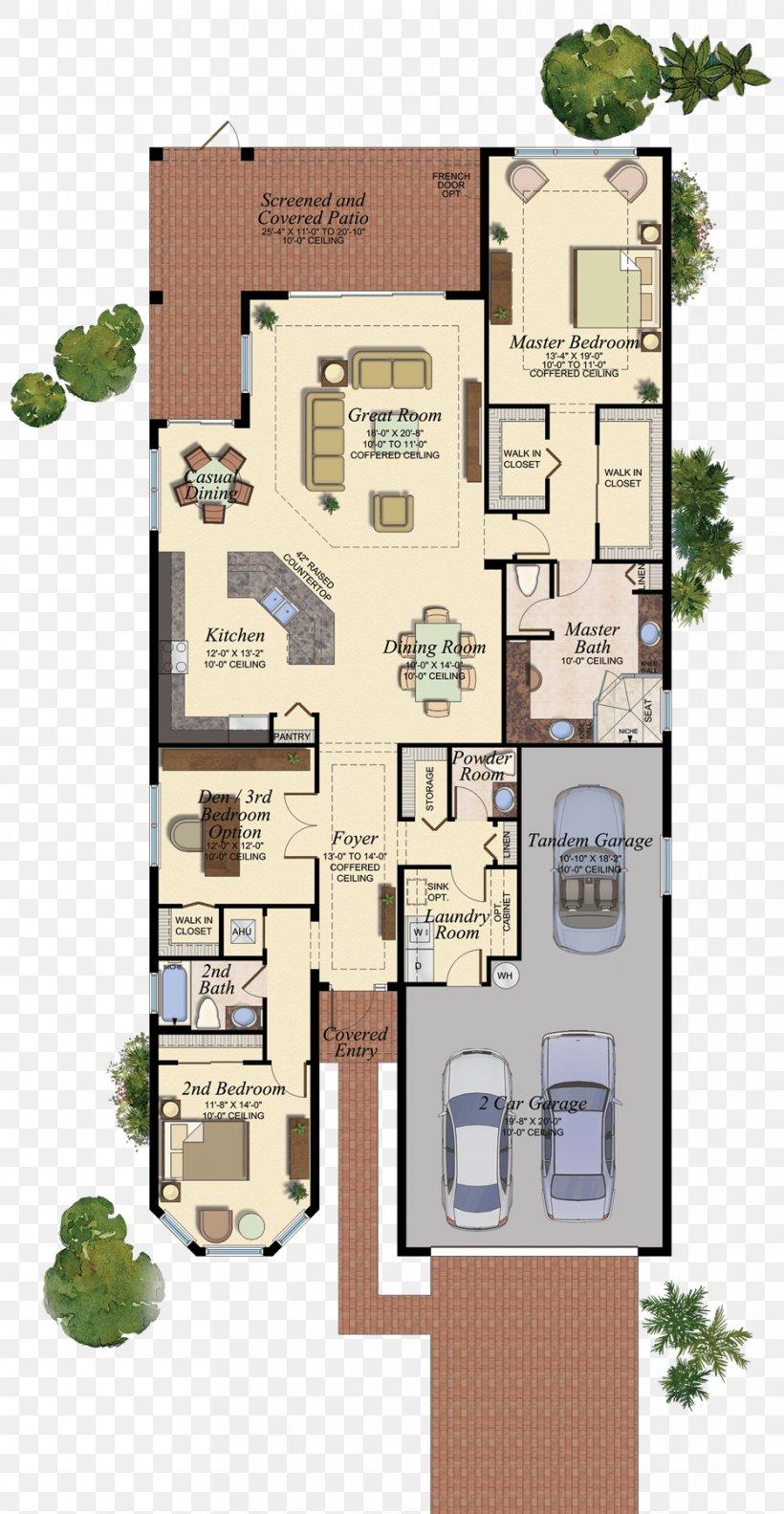 Floor Plan Delray Beach House Plan, PNG