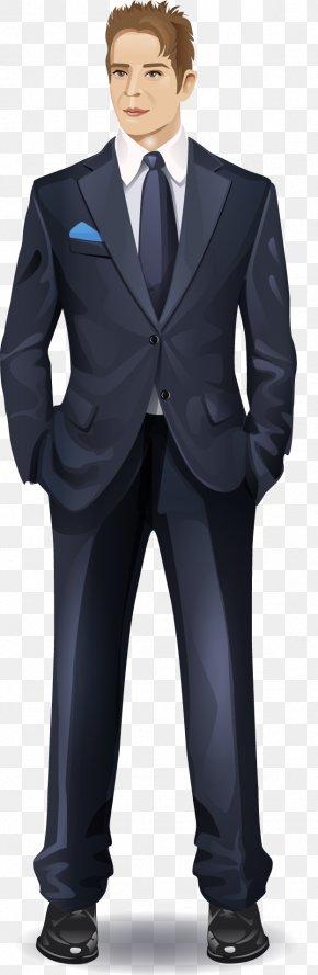 Vector Painted Suit Man - Tuxedo Suit PNG