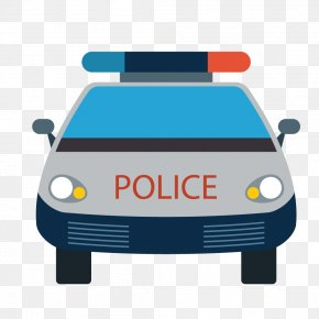 Blue Police Car Police Bus PNG