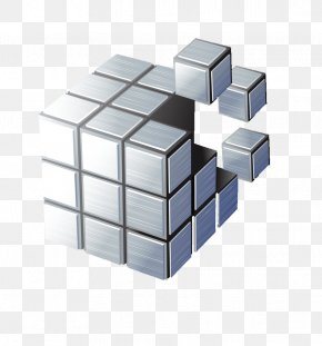 Silver Cube - Drawing Photography Illustration PNG