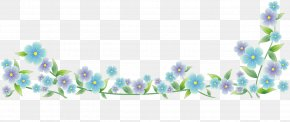 Watercolor Flower Border - Flower Adobe Flash Clip Art PNG