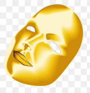 Gold Mask - Mask Cartoon Runner Face PNG