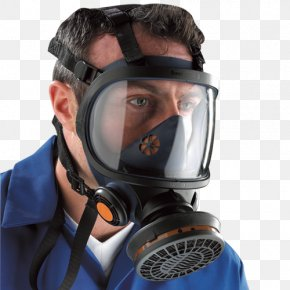 Mask - Respirator Full Face Diving Mask Face Shield Gas Mask PNG
