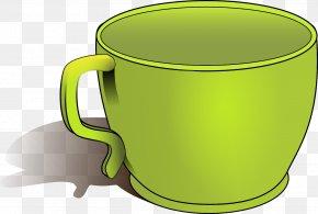 Green Cup - Tea Coffee Cup Clip Art PNG