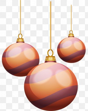 Orange Stripes Holiday Ball Ornaments - Christmas Ornament Orange Purple PNG