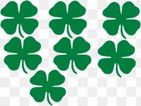 Shamrocks - Shamrock Saint Patrick's Day Four-leaf Clover Clip Art PNG