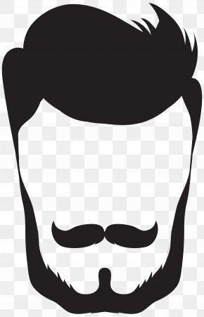 Hipster Hair And Beard Clip Art - Easter Bunny Santa Claus Clip Art PNG