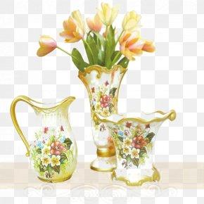 Vases Of Various Shapes - Floral Design Vase Crock PNG