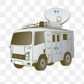 Cartoon Car Radio News - News Television Channel OB-buss PNG
