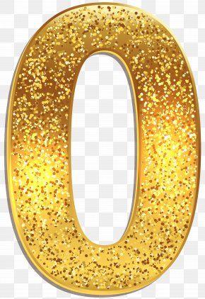 Number Zero Gold Shining Clip Art Image - 0 Number Clip Art PNG