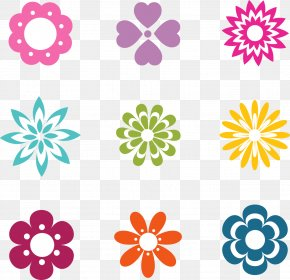 Beautiful Flowers Vector Logo - Flower Euclidean Vector Icon PNG