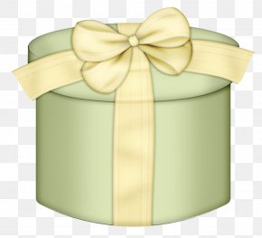 Green Round Gift Box Clipart - Gift Box Paper Birthday Clip Art PNG