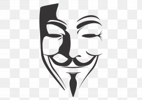 Anonymous Mask - V For Vendetta Clip Art PNG