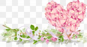 Heart Flowers - Rose Flower Heart PNG