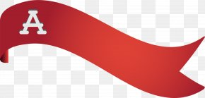 Hand Painted Red Ribbon Scroll - Texas A&M University Font PNG