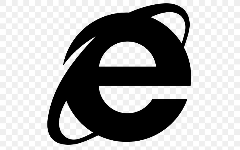 Internet Explorer 10 Web Browser, PNG, 512x512px, Internet Explorer, Black, Black And White, Internet, Internet Explorer 4 Download Free