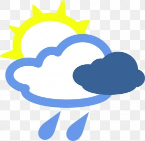 Winter Sun Cliparts - Rain Cloud Weather Clip Art PNG