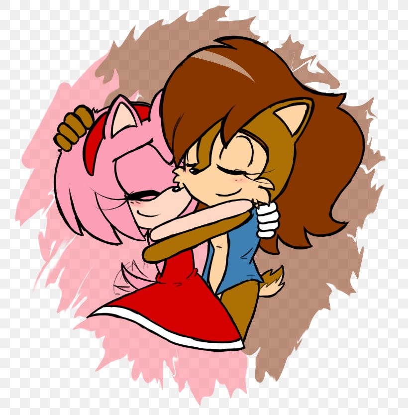 Amy Rose Shadow The Hedgehog Sonic The Hedgehog Princess Sally Acorn Tails Png 805x834px Watercolor Cartoon