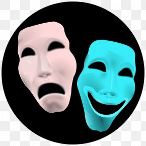 Drama Masks Clipart - Theatre Mask Drama Clip Art PNG