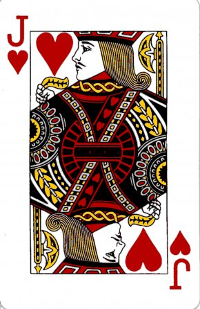 Heart Playing Cards - Jack The Queen Of Hearts Playing Card T-shirt PNG