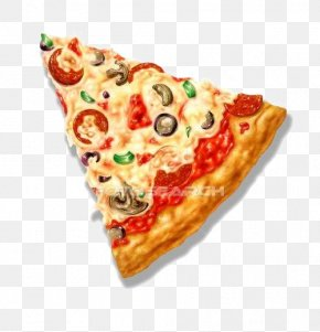 Pizza - Pizza Triangle Shape Clip Art PNG