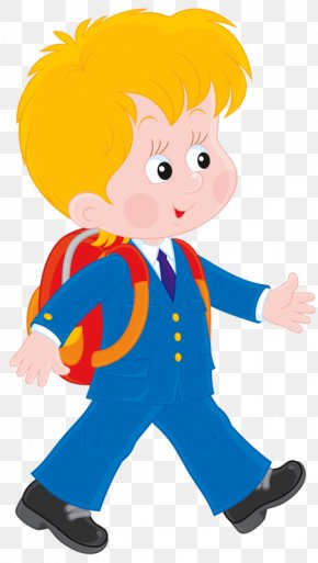 Carrying A Bag To Go To School - Student School Dijak Clip Art PNG